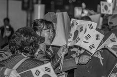 Συνάθροιση στο σταθμό της Σεούλ ενάντια στην κατηγορία Στοκ Εικόνες