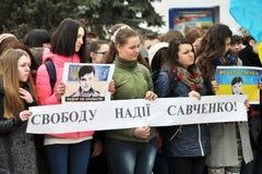 Συνάθροιση υπέρ της ελπίδας Savchenko_5 Στοκ Φωτογραφία
