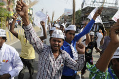 Συνάθροιση AAP στο Varanasi Στοκ Φωτογραφία
