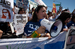 συνάθροιση sb1070 διαμαρτυρί&alpha στοκ φωτογραφία με δικαίωμα ελεύθερης χρήσης