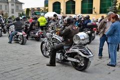 Συνάντηση μοτοσικλετών και μαζικός γύρος Στοκ Εικόνα