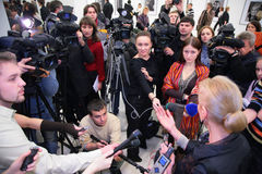 συνέντευξη έκθεσης Στοκ Εικόνες