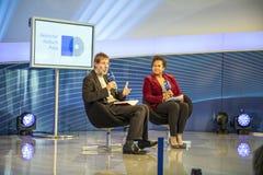 Συνέντευξη με το Frank Arnold στο σημείο συνεδρίασης του ARD Στοκ εικόνες με δικαίωμα ελεύθερης χρήσης