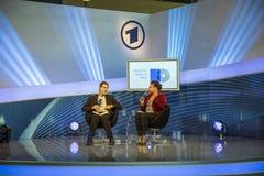 Συνέντευξη με το Frank Arnold στο σημείο συνεδρίασης του ARD Στοκ φωτογραφία με δικαίωμα ελεύθερης χρήσης