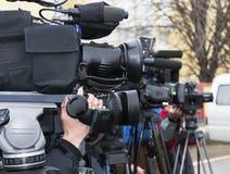 Συνέντευξη τύπου Στοκ φωτογραφία με δικαίωμα ελεύθερης χρήσης