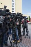 Συνέντευξη τύπου Στοκ Εικόνες