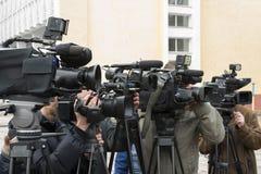 Συνέντευξη τύπου Στοκ εικόνα με δικαίωμα ελεύθερης χρήσης