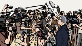 Συνέντευξη τύπου απεικόνιση αποθεμάτων