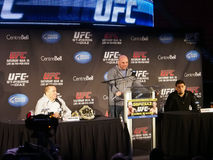 Συνέντευξη τύπου UFC 158 Στοκ εικόνα με δικαίωμα ελεύθερης χρήσης