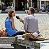 συνέντευξη Στοκ Εικόνες