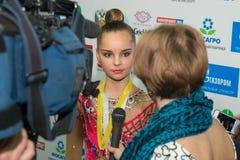 συνέντευξη Averina Arina, Ρωσία Στοκ Εικόνες
