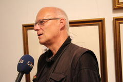 Συνέντευξη TV Στοκ Εικόνες