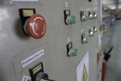 Συνέλευση γραμμών κουμπιών στάσεων έκτακτης ανάγκης Στοκ Εικόνες