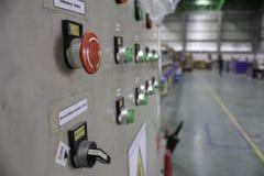 Συνέλευση γραμμών κουμπιών στάσεων έκτακτης ανάγκης Στοκ εικόνες με δικαίωμα ελεύθερης χρήσης