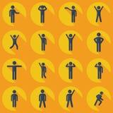 Συνέλευση του αριθμού ραβδιών σκιαγραφιών ανθρώπων ελεύθερη απεικόνιση δικαιώματος