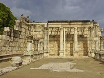 Συναγωγή Capernaum στο Ισραήλ Στοκ Εικόνες