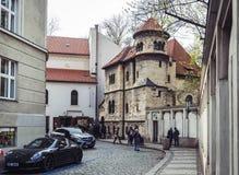 Συναγωγή Klausen στο εβραϊκό τέταρτο στην Πράγα, Δημοκρατία της Τσεχίας στοκ φωτογραφίες με δικαίωμα ελεύθερης χρήσης