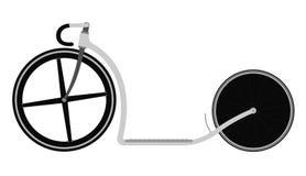 Συναγωνιμένος μηχανικό δίκυκλο ποδηλάτων λακτίσματος διανυσματική απεικόνιση