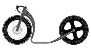 Συναγωνιμένος μηχανικό δίκυκλο ποδηλάτων λακτίσματος ελεύθερη απεικόνιση δικαιώματος