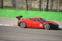 Συναγωνιμένος ομάδα Ferrari 458 πρόκληση Evo 2016 Pellin Στοκ φωτογραφία με δικαίωμα ελεύθερης χρήσης