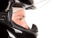 Συναγωνιμένος οδηγός με το κράνος Στοκ φωτογραφία με δικαίωμα ελεύθερης χρήσης