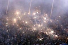 Συναγωνιμένος πρωτοπόροι 2019 Αργεντινή πυροτεχνημάτων στοκ εικόνα