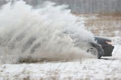 συναγωνιμένος χιόνι Στοκ Εικόνες