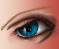 Συναισθήματα ματιών σώματος διανυσματική απεικόνιση