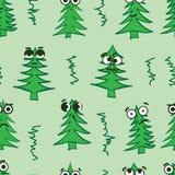 Συναισθηματικά άνευ ραφής fir-trees απεικόνιση αποθεμάτων
