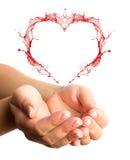 συναισθηματικά χέρια έννοιας που διατηρούν τη συνοχή τη γυναίκα δύο Στοκ Εικόνες