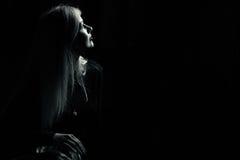 συναισθηματική σκηνή θλίψης κοριτσιών Στοκ Εικόνες