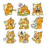 Συναισθηματικοί χαρακτήρες γατών διανυσματική απεικόνιση