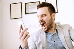 Συναισθηματικός επιχειρηματίας πίεσης Στοκ εικόνα με δικαίωμα ελεύθερης χρήσης