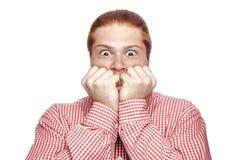 Συναισθηματικός redhead επιχειρηματίας Στοκ εικόνα με δικαίωμα ελεύθερης χρήσης