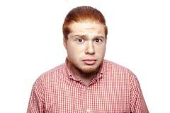 Συναισθηματικός redhead επιχειρηματίας Στοκ Εικόνες