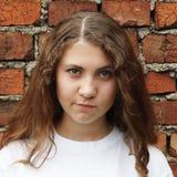 Συναισθηματικό γλυκό κορίτσι Στοκ φωτογραφία με δικαίωμα ελεύθερης χρήσης
