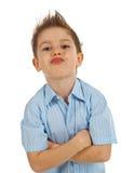 Συναισθηματικό πορτρέτο του μικρού παιδιού στοκ φωτογραφία με δικαίωμα ελεύθερης χρήσης