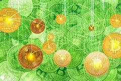 Συναλλαγές ανταλλαγής Bitcoin Στοκ εικόνα με δικαίωμα ελεύθερης χρήσης