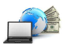 Συναλλαγές χρημάτων - αφηρημένη απεικόνιση Στοκ Εικόνα