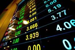 Συναλλαγματική ισοτιμία νομίσματος στο όργανο ελέγχου ψηφιακής επίδειξης στην τράπεζα στοκ φωτογραφίες