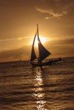 Συνανμένος διάσημο ηλιοβασίλεμα Boracay Στοκ Εικόνα