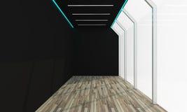 Συνανμένος μαύρο κενό δωμάτιο Στοκ Φωτογραφία