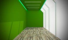 Συνανμένος πράσινο κενό δωμάτιο Στοκ Εικόνες