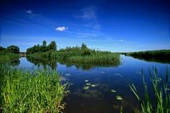 συναντήστε τους ποταμού Στοκ Εικόνες