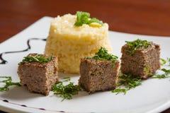 Συναντήστε kibbeh το γεύμα Στοκ εικόνα με δικαίωμα ελεύθερης χρήσης
