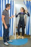 Συναρμολόγηση του υποβρύχιου κοστουμιού στοκ εικόνα
