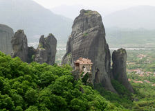 Συναρπαστική άποψη του μοναστηριού Meteora, Ελλάδα Στοκ εικόνες με δικαίωμα ελεύθερης χρήσης