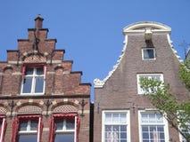 Συναρπαστική πρόσοψη οδών στο Άμστερνταμ Στοκ Φωτογραφίες