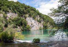 συναρπαστική της Κροατίας όψη plitvice πάρκων λιμνών εθνική Στοκ εικόνα με δικαίωμα ελεύθερης χρήσης