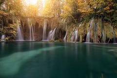συναρπαστική της Κροατίας όψη plitvice πάρκων λιμνών εθνική Κροατία Στοκ Εικόνες